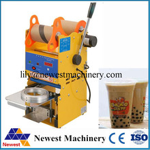 Automatic digital cup sealing machine for food and drink package cup sealer bubble tea cup sealing machine