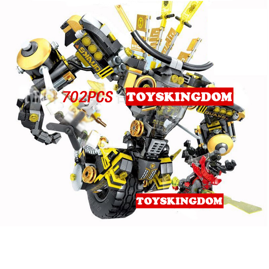 2017 ninja movie Cole Single wheel mecha robot go building block warrior figures Chen Aerocraft bricks toys boys gifts  -  ToysKingdom store