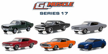 Green Light 1:64 GL Muscle Series 17 boutique alloy car toys for children kids toys Model original box(China)
