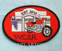 Motorcycle Embroidery badge Cutomized Based on Client Design