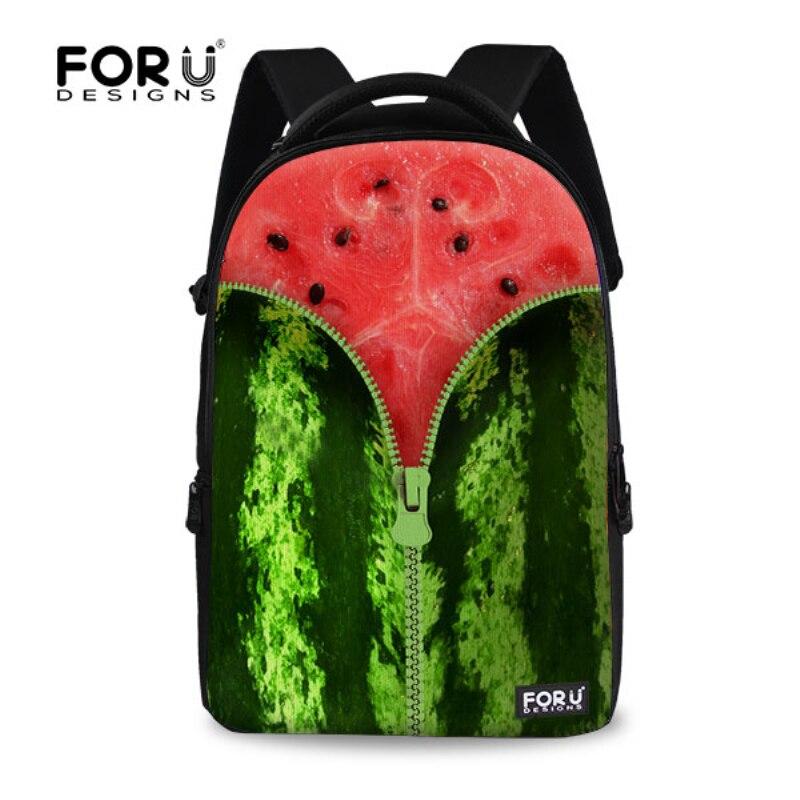 Fashion 17 inch Printing Laptop Backpack Fruit Style Female Women Backbag Cool Girls School Bag College Rucksack Mochila<br>