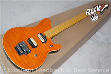 Chinese Guitar Manufacturers Music man Electric Guitar Maple Neck Musicman Quilted Maple Grains In Stock(China)