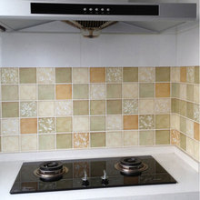 PVC Private Kitchen oil-proof Self-adhesive Mosaic Tile Style Bathroom toilet waterproof Matte Surface Wallpaper Wall Sticker