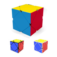 3 Colours Qiyi QiCheng Skewb Speed Magic Cube 2 on 2 Speed Cube Magic Bricks Block Brain Teaser New Year Gift Toys for Children