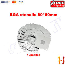 80 x 80mm Bga Stencil Kit for Laptop Universal Reballing stencils 10 pcs/set, for BGA reballing