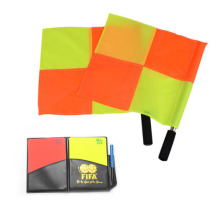 Gojoy Soccer referee flag with card Fair Play Sports match Football Linesman flags and cards referee equipment Wholesale