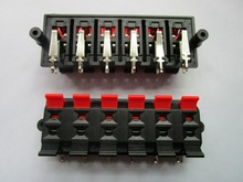 6 pcs Speaker Terminal Board Connector Spring Loaded 12-Way 83x30mm