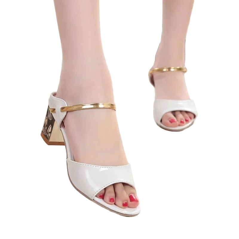2017 Summer Woman Sandals Fish Mouth Sandals Thick With High Heels Roman Woman Sandals ST20<br><br>Aliexpress