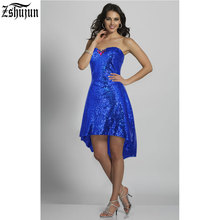 Buy New Selling 2017 Women's sequins dress Strapless Bra applique short Rear length Nightclub Sexy dress Female Party dress for $17.69 in AliExpress store