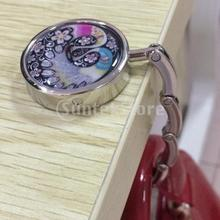 Round Folding Bag Handbag Purse Hanger Table Hook Holder Colourful Peacock(China)