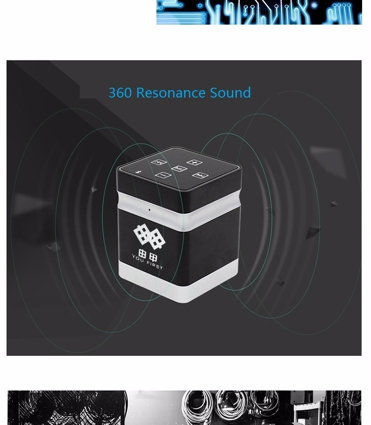 Bluetooth Wireless Vibration Speakers 26W Portable Metal Handsfree With Microphone AUX Wired Hifi Loudspeakers For Mobile Phone