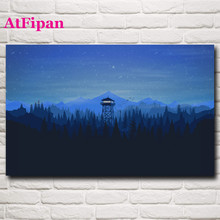 AtFipan On The Wall Art Cuadros Decor Video Games Mountains Minimalism Forest Modular Wall Painting Vintage Painting On Canvas