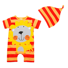Summer Baby Rompers Baby Gril Clothing Sets Roupas Infantis Newborn Bebes Boys Costume Short Sleeve Brand Baby Boy Clothes