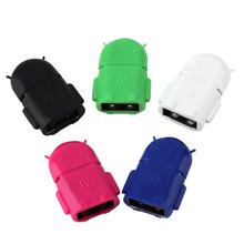 Phone Accessory Micro USB OTG Adapter Phone Adapter Suitable for Universal Micro USB Android Phone random color