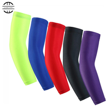High Elastic  Elbow Pads  Sunscreen Sports Long Arm Sleeve Warmers Basketball Shooting  Protector Sport Goods Stretch Padded