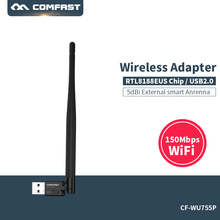 Wifi module laptop adapter COMFAST CF-WU755P 150mbps wireless adapter usb wireless dongle network card usb mini pci express wifi(China)