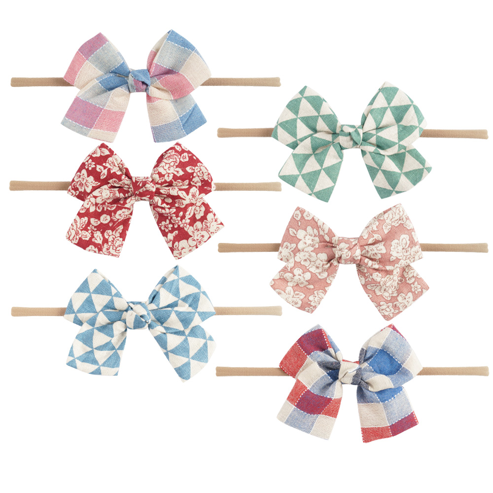 Stretch Nylon Headband With Fabric Bow For Infant Toddler Baby Girls Knotted Hair Band Hair Accessories Head Wrap<br><br>Aliexpress