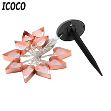 ICOCO 10 LED Romantic Heart Shape String Light Waterproof Solar Light Christmas Wedding Decoration Yard Garden Street Lamp Sale(China)