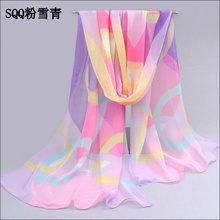 2017 beautiful hot sale scarf  women chiffon geogette colorful  silk feeling scarf women 's summer sunblock shawls pashmina