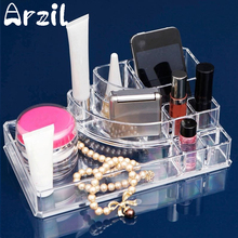 Display Lipstick Holder Acrylic Cosmetic Organizer Stand Clear Makeup Organizer Storage Container Makeup Case