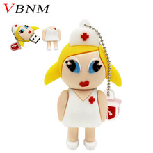 VBNM Doctor Nurse Pendrive USB 2.0 Flash Memory Pen Drive Stick 4GB 8GB 16GB 32GB 64GB Dentist USB Flash Drives creative(China)