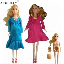 The explosion of Bobbi doll toy doll series of pregnant women (belly inside vinyl baby) loaded girls favorite doll toy gift