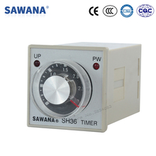 timer relay AC220V 110V DC 24V SH36-B 0.25-3s/30s/3m/30m on delay time relay with socket base SPDT
