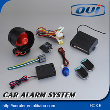 Free Shipping One Way Car Alarm System With Remote Engine Starter Car Security Alarm System Keyless Entry(China)
