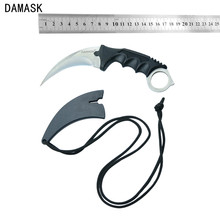 New Fixed Blade Stainless Steel Knife Damask Brand CS GO Counter Strike karambit Knife 1pcs Outdoor Camping Knife Best Gifts