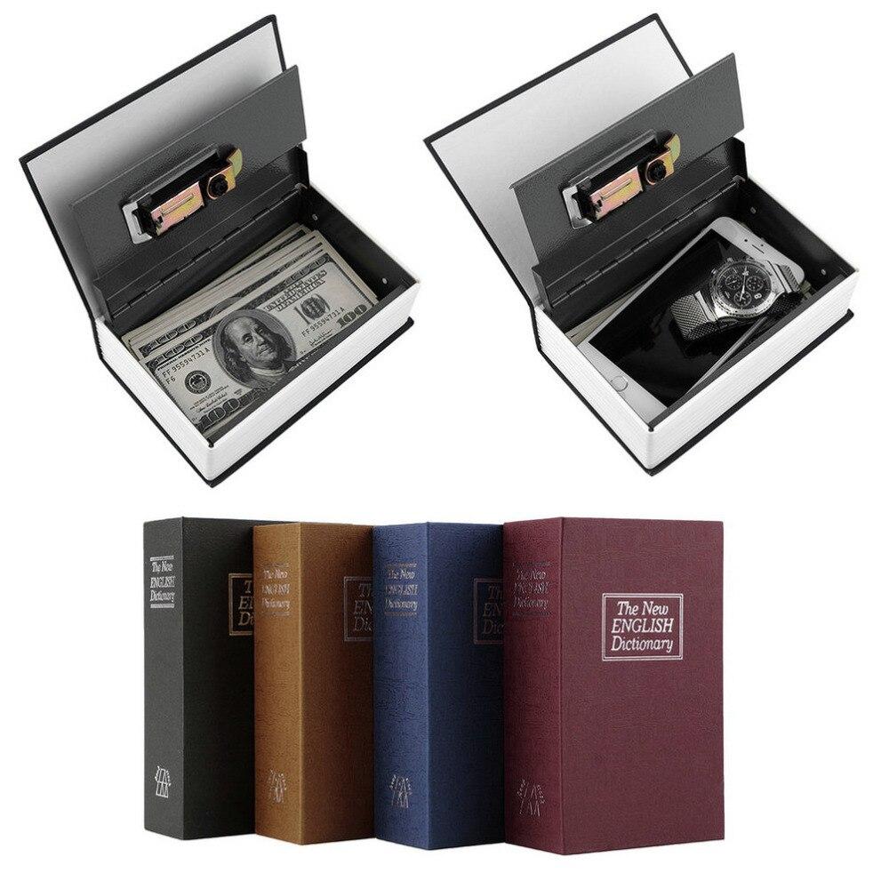 2017 New Arrival Hot Steel Simulation Dictionary Secret Book Safe Money Box Case Money Jewelry Storage Box Security Key Lock<br><br>Aliexpress