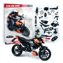Maisto 1:12 KTM 690 Duke 3 Assembly DIY MOTORCYCLE BIKE Model Kit FREE SHIPPING The actual for black and white 39181
