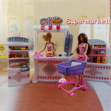 New arrival Children girl gift play toy doll house Super Market furniture for BJD simba lica barbie doll(China)