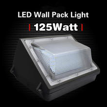 125W Led Wall Pack Light 550-600W HPS MH Bulb Replacement For Building Home 100V 277V Garages Parking Porch Outdoor Lighting(China)
