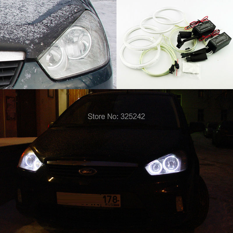 For Ford C-Max MkI 2008 2009 2010 Excellent Angel Eyes kit Ultrabright illumination ccfl angel eyes kit Halo Ring<br><br>Aliexpress
