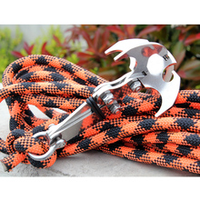 High Quality Stainless Gravity Grappling Hook Survival Magnetic Climbing Claw Carabiner Mountain Rock Climbing Gear Replacement(China)