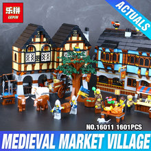 New 1601Pcs Lepin 16011 Genuine Castle Series The Medieval Manor Castle Set 10193 Building Blocks Bricks Model Educational Toys
