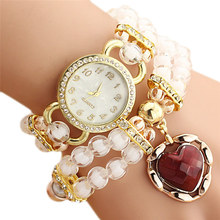 Fabulous New Arrival Personalized Flowers Pearl Wrapped Bracelet Watch Ladies Fashion Students Watch Reloj Mujer woman watches