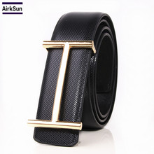 Buy 2017 new fashion Luxury H Buckle Belt mens smooth buckle leather belts male high designer belts for $14.00 in AliExpress store