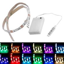 Abajur Battery Operated 50CM RGB 15 LED Strip Light String Fairy Lamp Flashing Cupboard Luminaria Lumiparty Wedding Decoration