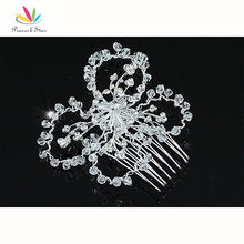 Wholesale Lot 3 pcs Bridal Wedding Prom Handmade Butterfly Crystal Beads Hair Comb CT1370X3