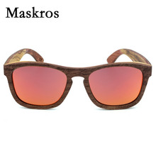 Maskros HD Polarized Wood Sunglasses Women Male Vintage Wooden Products Sun glasses For Female 2017 TAC Spring Hinge