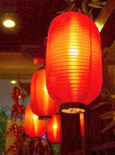 Red Long Chinese New Year Lantern Cylinder Chinese Lantern Festival Chinese Wind Adorn Chinese Friends Hotel Festival Decoration(China)