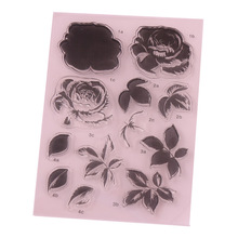 CCINEE 1PCS Flower Clear Stamp DIY Silicone Seals Scrapbooking/Card Making/Photo Album Decoration Supplies
