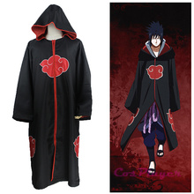 KIGUCOS Anime Naruto Uniform Uchiha Sasuke Cosplay Costumes Cloak Taka Cape