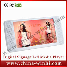7 inch HD supermarket equipment 12V Auto play plastic shell tft advertising display lcd media player