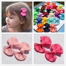 2pcs 2inch bowknot girl kids mini hair clip hairpin ribbon bows accessories for girls hair clips hair barrette ornamentheaddress