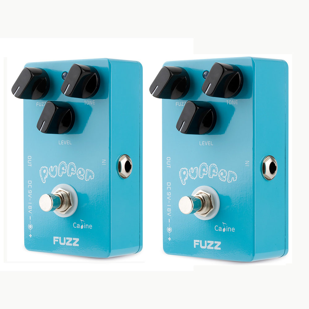 2PCS Caline CP-11 Puffer FUZZ Guitar Effect Pedal Mini Design Pedals Aluminum Alloy Housing  with True Bypass Guitar Accessories<br>
