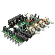 New Arrival Electronic Circuit Board 12V 60W Hi Fi Stereo Digital Audio Power Amplifier Volume Tone Control Board Kit 9cm x 13cm(China)