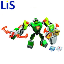 Lis BELA 10587 Nexus Knights Building Blocks set Macy Aaron AXL Lance Clay Battle Suit Kids bricks toys lepin - Lucky bags home store