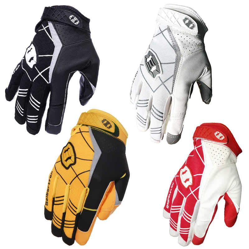 Seibertron Hot Classic Black American Football Gloves Outdoor Sport Camping  Male and Female Durability Gloves Rugby 78fed908d3